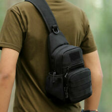 Men Outdoor Messenger Chest Pack Military Tactical Sling Waterproof Shoulder Bag