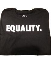 XL Nike Dri Fit Equality Black Athletic Cut Tee Shirt Men's Size XL - Brand New
