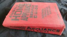AUDELS HOME APPLIANCE SERVICE GUIDE BOOK 1958 vintage Anderson Repairs Electric