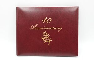 Hutchings And Patrick 40th Wedding Anniversary Guestbook