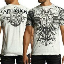 "AFFLICTION ""DEATH FLIGHT"" Eagle Shield Medieval Mens Medium T shirt NEW UFC Tee"