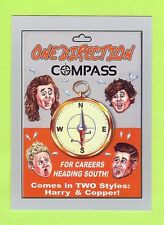 "2017 TOPPS WACKY PACKAGES 50TH ""SILVER"" ONE DIRECTION COMPASS #46/50"