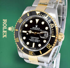 Rolex Submariner Date 18k Gold Steel Ceramic Black 2018 Watch Box/Papers 116613