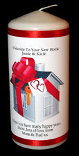 Send a personalised welcome to your new home candle gift housewarming #CD10