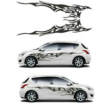 2pcs Black Fire Totem Decal Vinyl Graphics Car Body Decoration Sticker  Universal (Fits: Honda Civic)