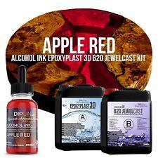 Epoxidharz EpoxyPlast 3D B20 APPLE RED Transparent Farbig Gießharz Epoxy Resin