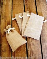 Natural Jute Hessian Drawstring Gift Bags Coffee Sack Small Pouch (Code #29)