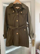 MICHAEL KORS KHAKI BELTED COAT IN SMALL EXCELLENT CONDITION