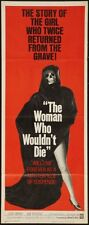 Woman Who Wouldn'T Die The 14x36 Insert Movie Poster Replica