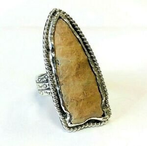 Sterling Silver Authentic Arrowhead Ring Size 11