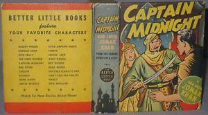VINTAGE BETTER LITTLE BOOK CAPTAIN MIDNIGHT AND SHEIK JOMAK KAHN #1402 1946