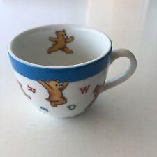 Tiffany & Co. Alphabet Bears White Porcelain Handled Tea Cup Japan 2006