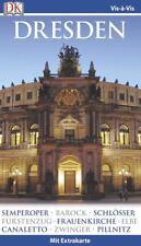 Dresden 2014-15 mit Karte Reiseführer UNGELESEN Vis a Vis Dorling Kindersley DK