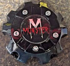 MONSTER 07 CENTER CAP/ BLACK WHEEL/RIM CENTER CAP #C692-5 SHIPS FREE!