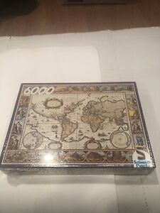 VINTAGE SCHMIDT JIGSAW PUZZLE - ANCIENT WORLD MAP- 6000 PIECES - NEW & SEALED