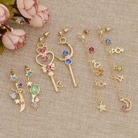 1 Paar Legierung Ohrringe für Mädchen Schmuck Geschenk Kawaii Anime Sailor Moon