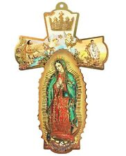 "Large 8"" OUR LADY of GUADALUPE Wall Cross ~ Virgen Mary ~ Catholic Gift ~ NEW!"