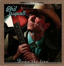 """ROCKABILLY LP: PHIL TRIGWELL - DOWN THE LINE - TAIL 10"""" RECORD - COVER SCUFFED"""