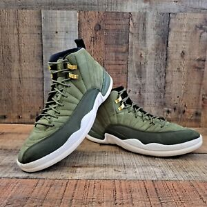 Nike Air Jordan 12 XII Retro size 11.5 Olive Green Gold Chris Paul 130690 301