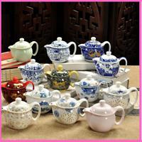 Ceramic Teapot With Strainer Handmade Dragon Flower Porcelain Samovar Tea Ware
