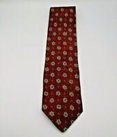 "Joseph Abboud Men's Neck Tie Rust, Brown, Tan, & Red Floral Pattern Silk 57"""