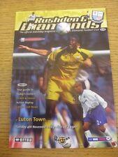 04/11/2003 Rushden and Diamonds v Luton Town [LDV Vans Trophy] .  Thanks for vie