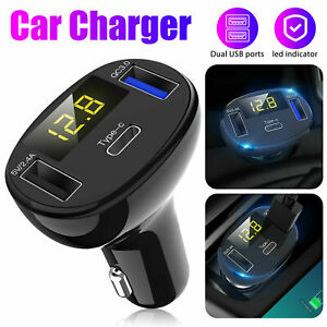 Car Charger For iPhone 12 Pro Max 11 XR XS Fast Charge 32W PD Type C USB Adapter