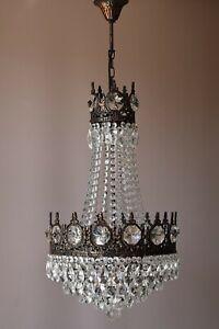 Empire Antique Style Vintage Crystal Chandelier, Ceiling light Pendant Sale Lamp