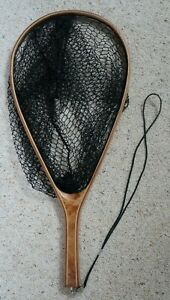 Wooden Fly Fishing Net - Hand Finished Fly Fishing Net with Ornate Wooden handle