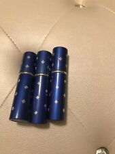 NEW Mini Travel Refillable Jeweled Blue Perfume Atomizer
