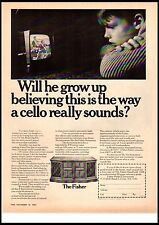1967 The Fisher Statesman Stereo Cello Vintage Print Ad