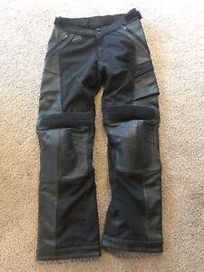 Shift Havoc Leather Motorcycle Pants - Size 32