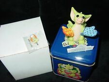 Mint Whimsical World Pocket Dragons Figure Cooks Helper Dragon Signed