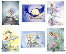 FAVORITES MERMAID NOTE CARDS from Original Watercolors by Camille Grimshaw