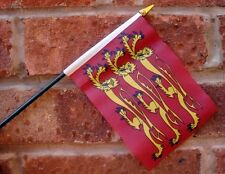 RICHARD THE LIONHEART flag PACK OF TEN SMALL HAND WAVING FLAGS England King UK