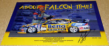 Craig Lowndes Signed Print - RARE - # of 100 - First Ford V8 Supercar Win - BA