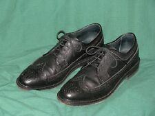 Mens Executive Imperials Black Leather Wing Tip Dress Shoes-11C-EC