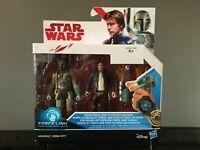 "Star Wars Star Wars Force Link Han Solo & Boba Fett 3.75"" Action figure 2 Pack"