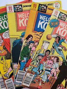 SET OF 5 WELCOME BACK, KOTTER #1,2,3,5,6 (F/VF) 1976 GABE KAPLAN; A DC TV COMIC!