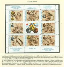 Olympic Games 1988 A39 Yugoslavia m/s MNH Rowing Boxing Shooting Water polo