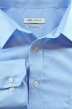 Joseph Abboud Men's Cornflower Blue Herringbone Cotton Dress Shirt 17 x 33/34