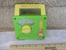 Vintage Fisher Price Pocket Radio Music Box works Toyland toy land fun green