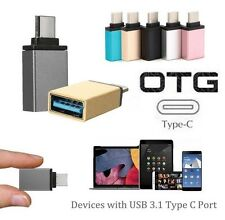 Type C Male to USB 3.0 Female OTG USB 3.1 Data Sync Charge Adapter Converter New