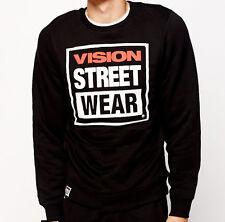SALE - VISION STREET WEAR Skateboard Fleece Lined Top Old School - MEDIUM  BLACK