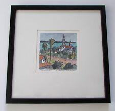 Santa Barbara St. Anthony's Original Watercolor Painting by Tom Henderson