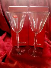 NIB FLAWLESS Exquisite BACCARAT France Pair ONDE Art Glass Crystal WINE GLASSES