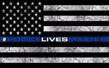 """5"""" American Police Flag USA Decal Sticker Vinyl #POLICELIVESMATTER Blue Stripe"""