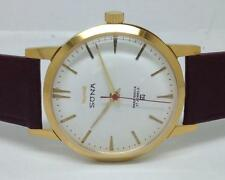 hmt sona gold plated hand winding men super slim India wrist watch run order D7