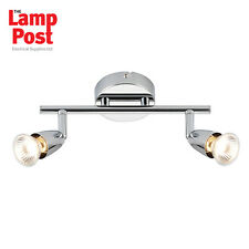 Saxby 43278 Amalfi 2 Light Twin Spotlight Bar Ceiling Mounted Polished Chrome