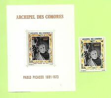 COMORO ISL. Sc C57-8 NH 1V+S/S OF 1973 - ART OF PICASSO